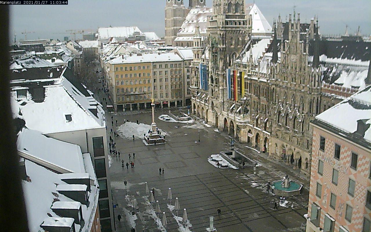 München Marienplatz Blickrichtung